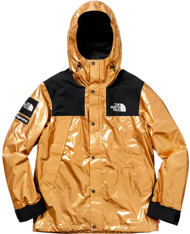 Supreme The North Face Metallic Mountain Parka- Gold