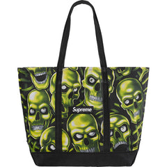 Supreme Skull Pile Denim Tote- Black