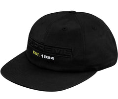 Supreme Embossed Logo 6-Panel- Black