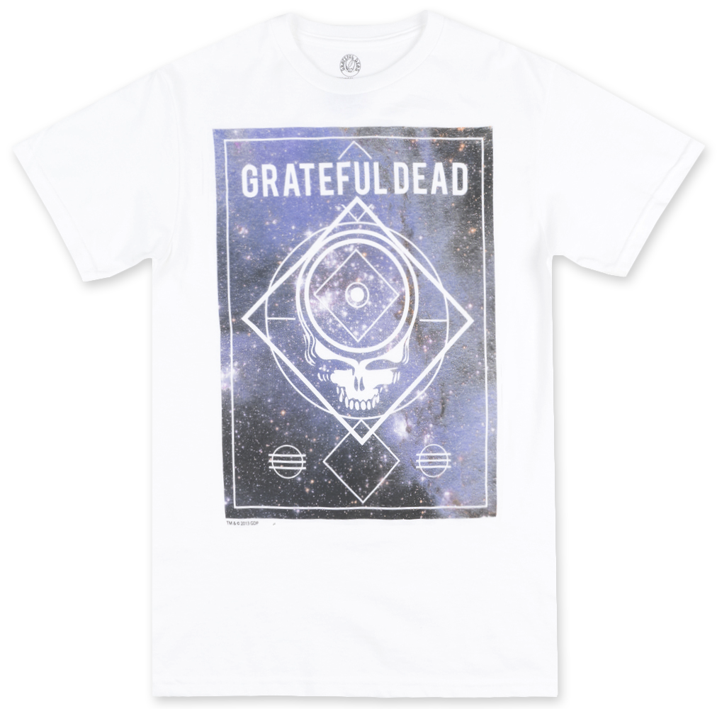 The Grateful Dead Lightning Skull Universe Tee- White