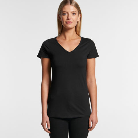 4010 Women's Bevel V-Neck Tee