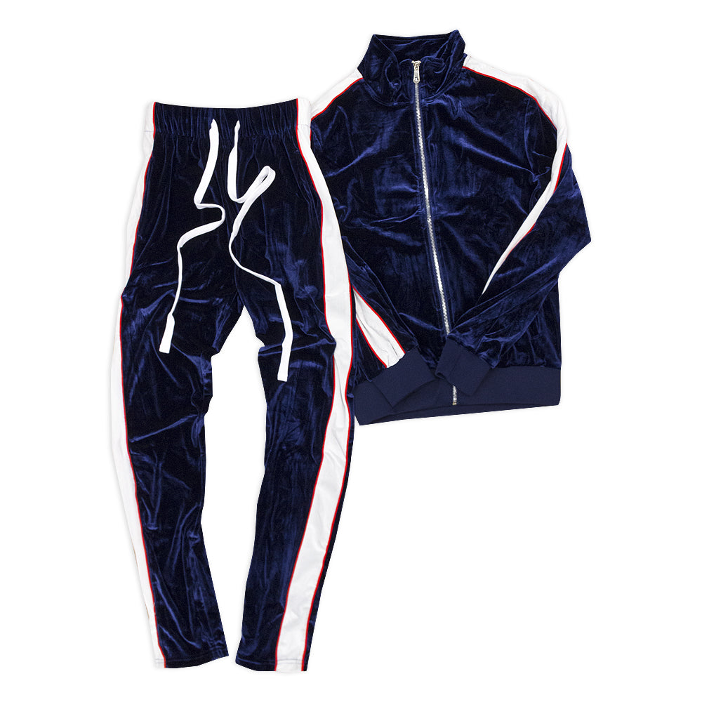 Velour Tracksuit Set