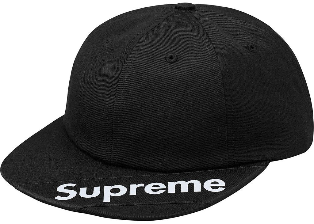 Supreme Visor Label 6-Panel- Black