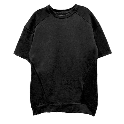 Black French Terry Box Tee