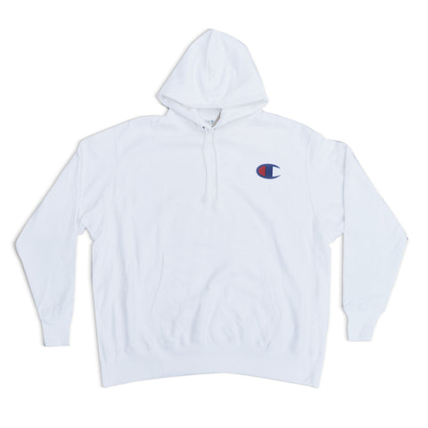 "Baseball ""C"" Fleece Pullover Hoodie White"