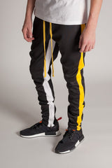 Kayden K Track Pants- Black/Yellow