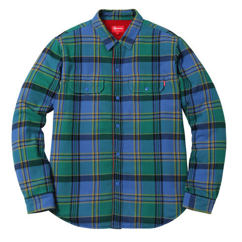 Pile Lined Plaid Flannel Shirt