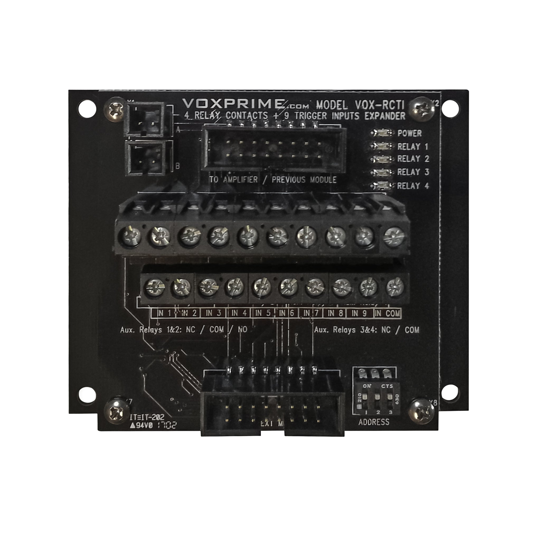 4 Relay Contacts 9 Trigger Inputs Module Voxprime No And Nc Of