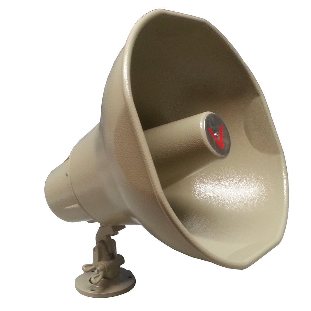 Indoor/Outdoor All-Metal Multitap Horn (15 Watts) - 70V/25V