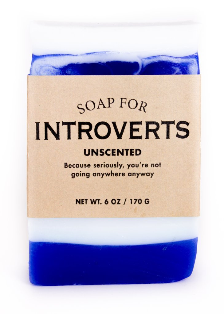 Whiskey River Soap Co. - Soap for Introverts, 6 oz, Unscented