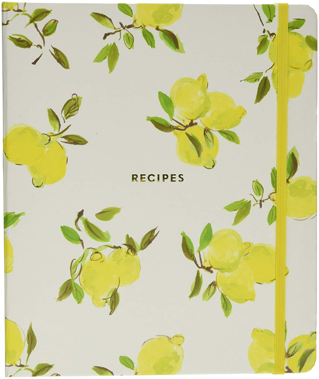 Kate Spade New York Lemon Recipe Book, Bright Yellow