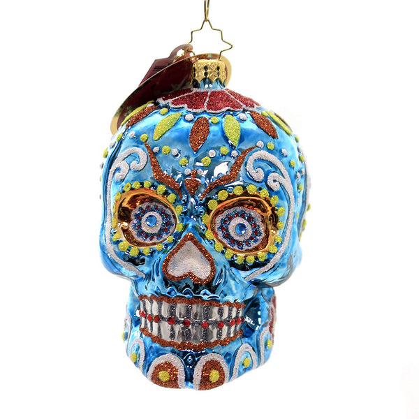 Christopher Radko Spooky La Calavera Christmas Ornament