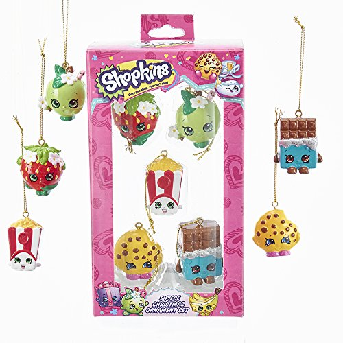 Kurt Adler SH3171 Shopkins Mini Ornament Set (5 Pack)