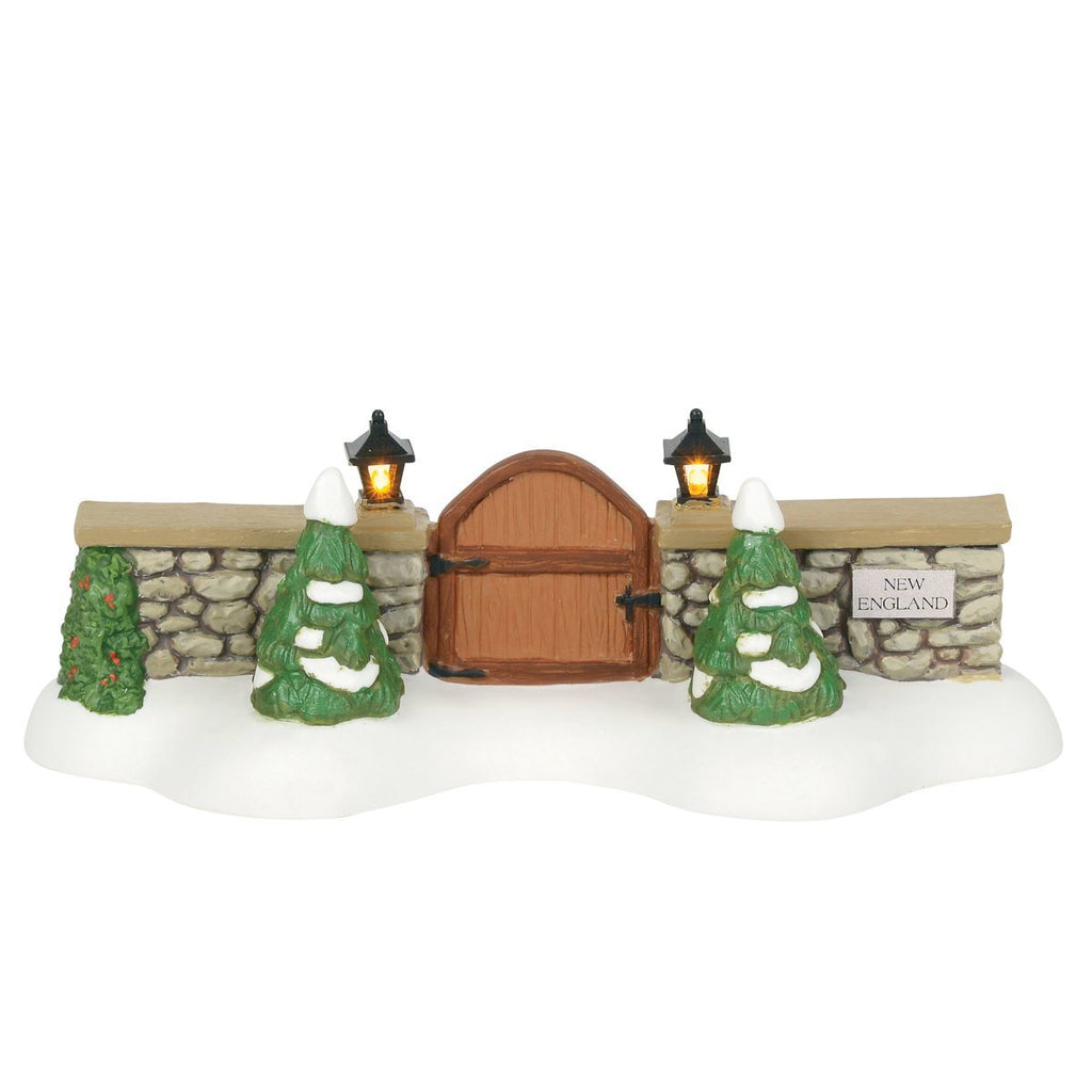Department 56 New England Village Gate