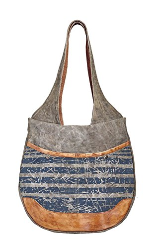 Mona B Easy Rider Upcycled Canvas Shoulder Bag M-3912