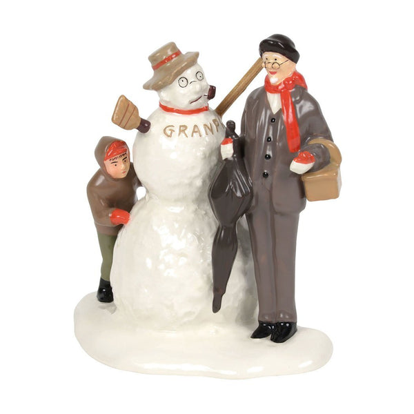 Department 56 Original Snow Village NR's Grandfather and Snowman