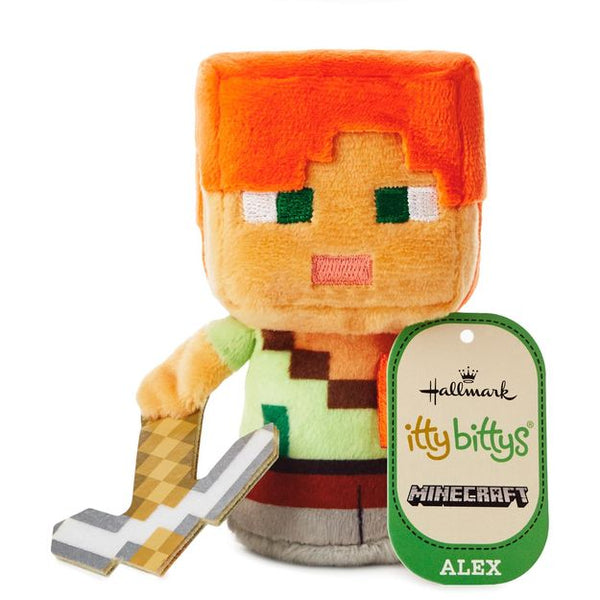 Hallmark itty bittys® Minecraft Alex Stuffed Animal