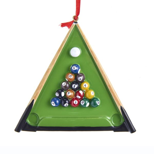 Kurt Adler Billiards Ornament for Personalization