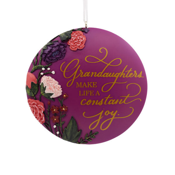 Hallmark Granddaughter Disk Ornament