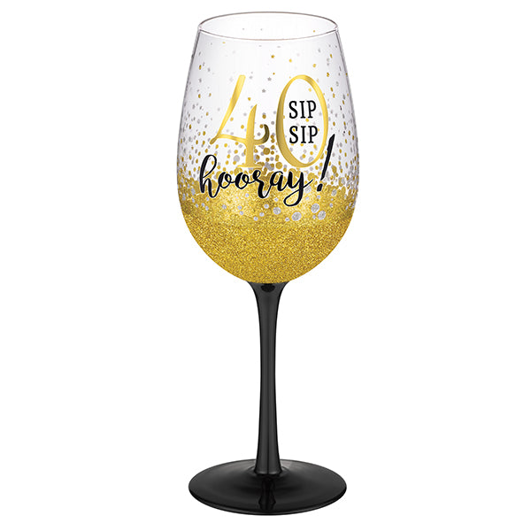 "Grassland Road  Grassland Road ""40"" Wine Glass"