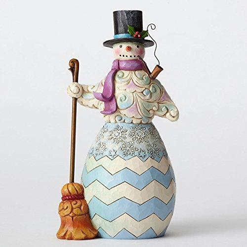 Enesco by Jim Shore Regal Snowman W/Broom Figurine