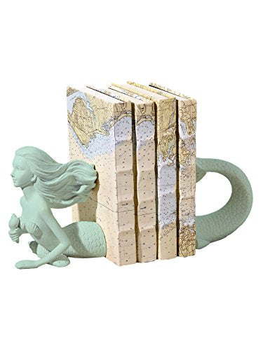Two's Company Deep Sea Mermaid Set of 2 Bookends