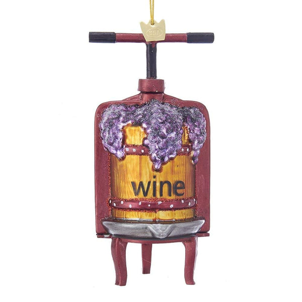 Kurt Adler Noble Gems™ Wine Press Glass Ornament