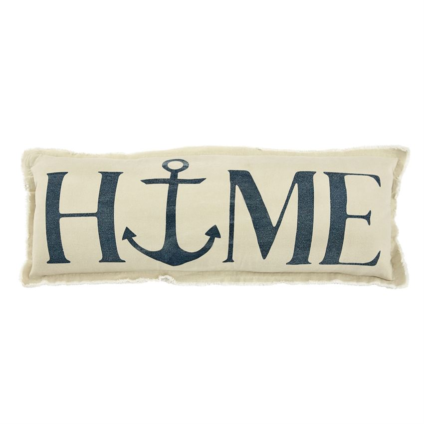 Mud Pie HOME Anchor Washed Canvas Pillow