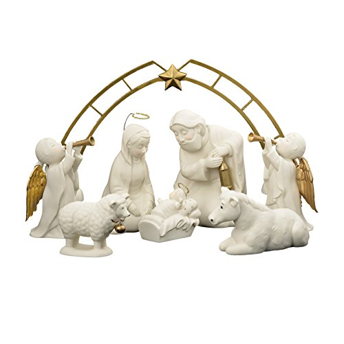 Department 56 Holy Night Nativity, Set of 8 Figurine 4.96""