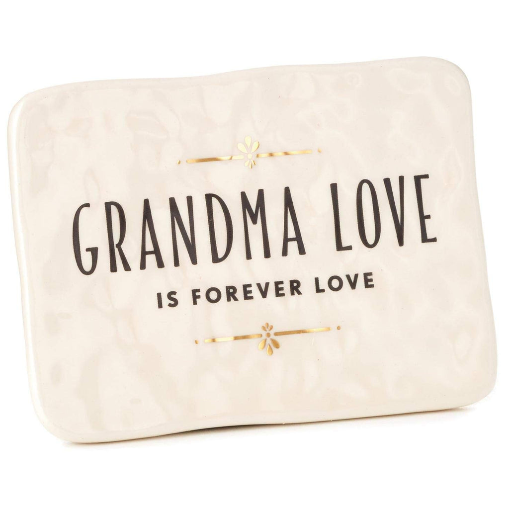 Hallmark Grandma Love Ceramic Quote Block, 4x3