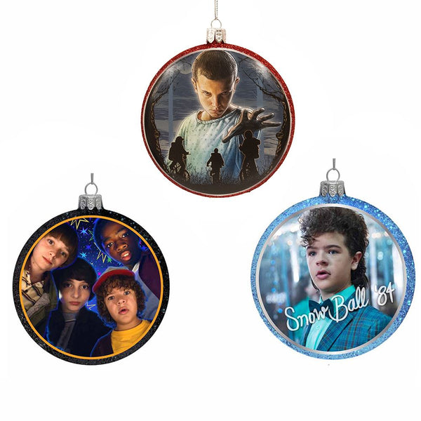 Kurt Adler Stranger Things Disc Ornaments, Set of 3