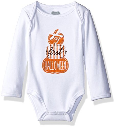 Mud Pie Kids Baby Seasonal One Piece Crawler Bodysuit Set, First Halloween, 0-6 Months