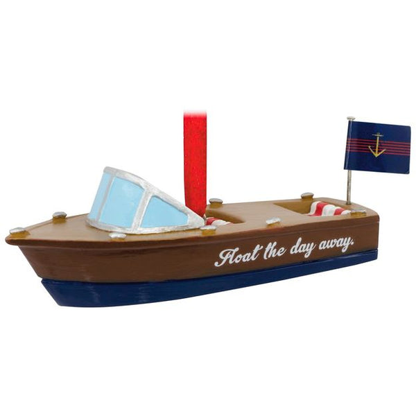 Float the Day Away Speedboat Hallmark Ornament