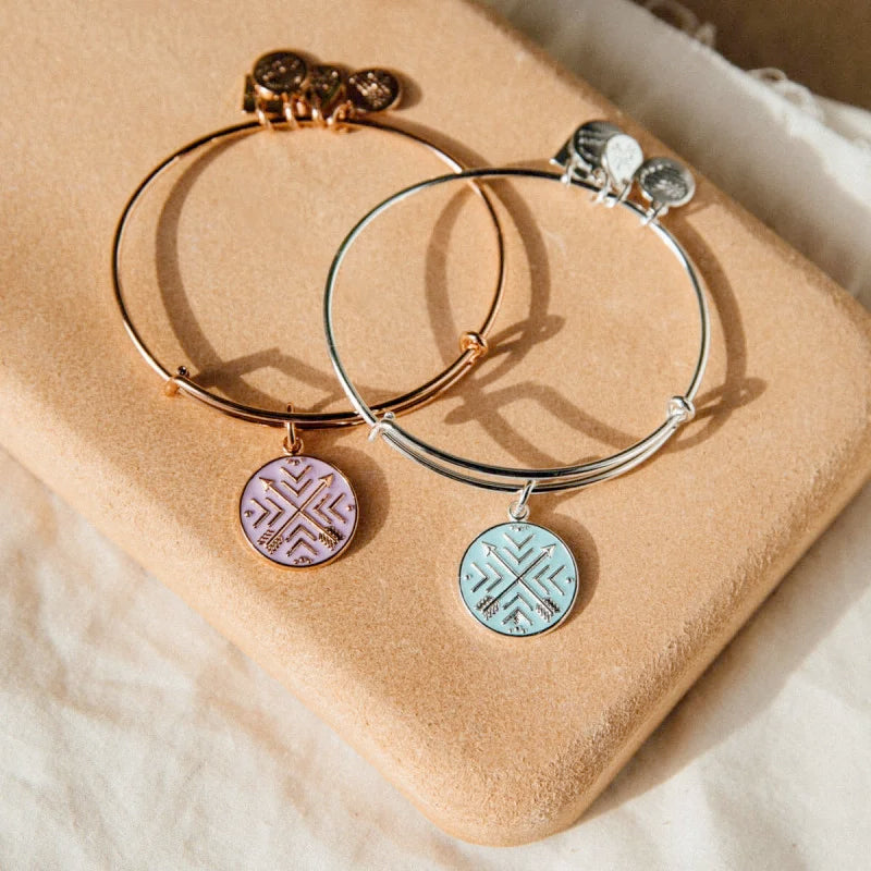 Alex and Ani Arrows of Friendship Charm Bangle | Best Buddies International, Silver
