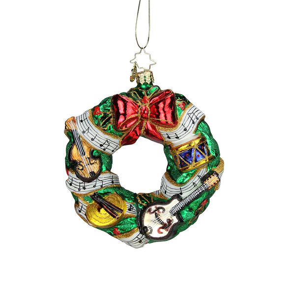 Christopher Radko Rhythmic Christmas Wreath Christmas Ornament