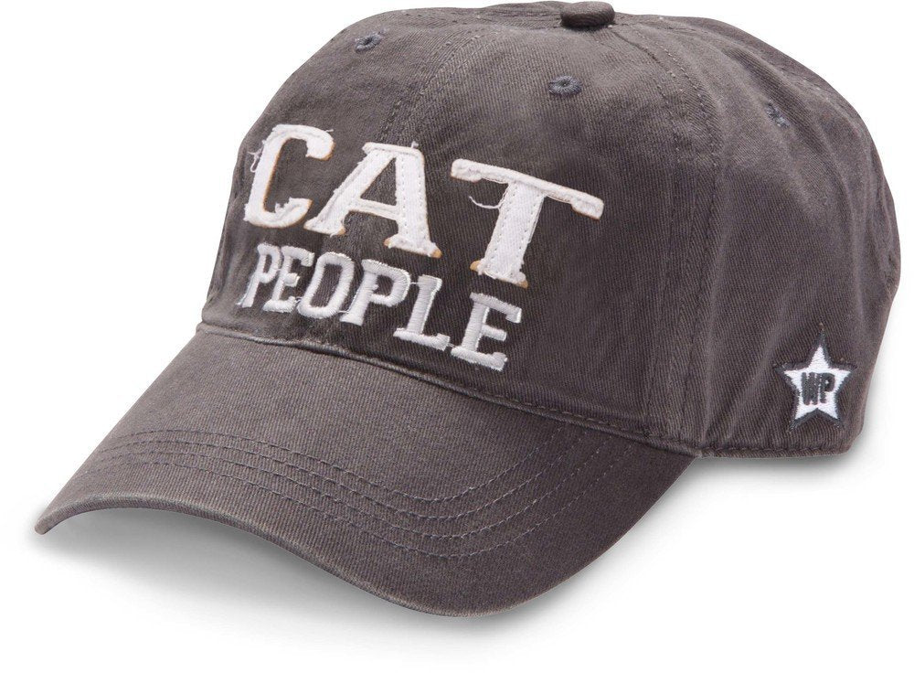 Pavilion Gift Company Cat People Adjustable Strap Cap, Dark Gray