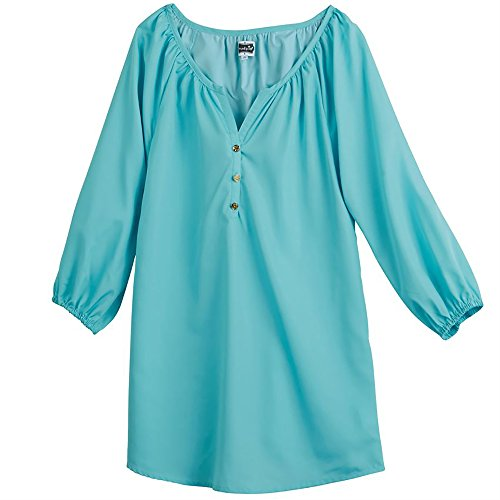 Mud Pie REESE TUNIC AQUA BLUE (Large)