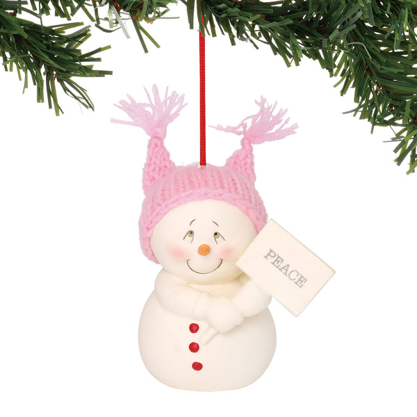 Department 56 Snowpinions Peace Ornament, 2.75""