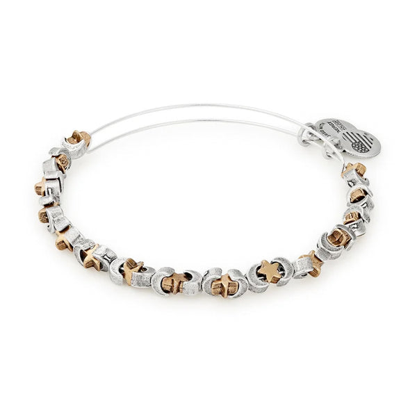 Alex and Ani Moon and Star Beaded Bangle