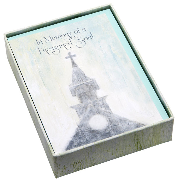 "C.R. Gibson 12 Count Boxed Sympathy Acknowledgement Cards, Includes Coordinating Envelopes, Cards Measure 5.5"" x 4"" - Cherished Haven"