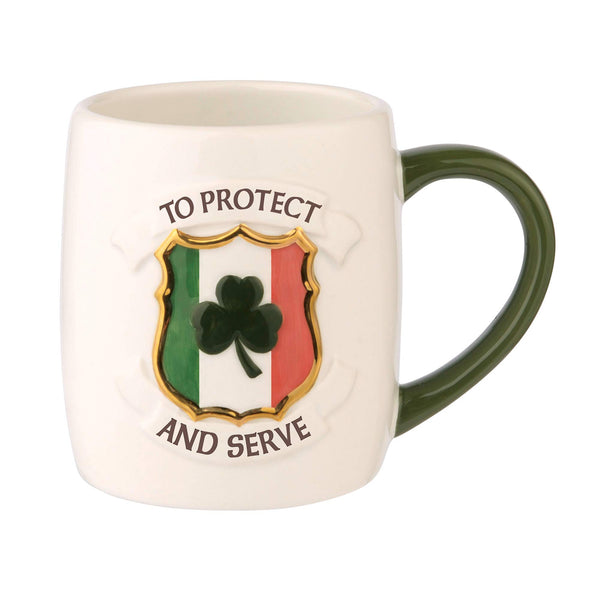 Grasslands Road To Protect and Serve Police Mug - Celtics Mug, 16 Ounces Coffee Mug Tea Cup, Ceramic, Special Gift Packing
