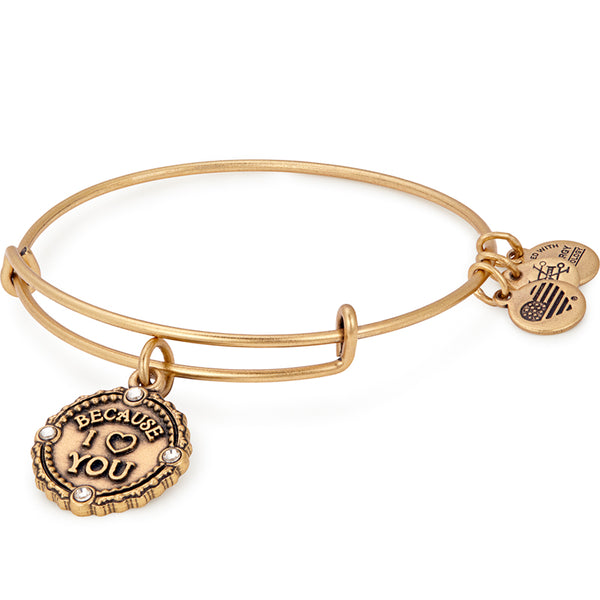 Alex and Ani Because I Love You Charm Bangle, Rose Gold
