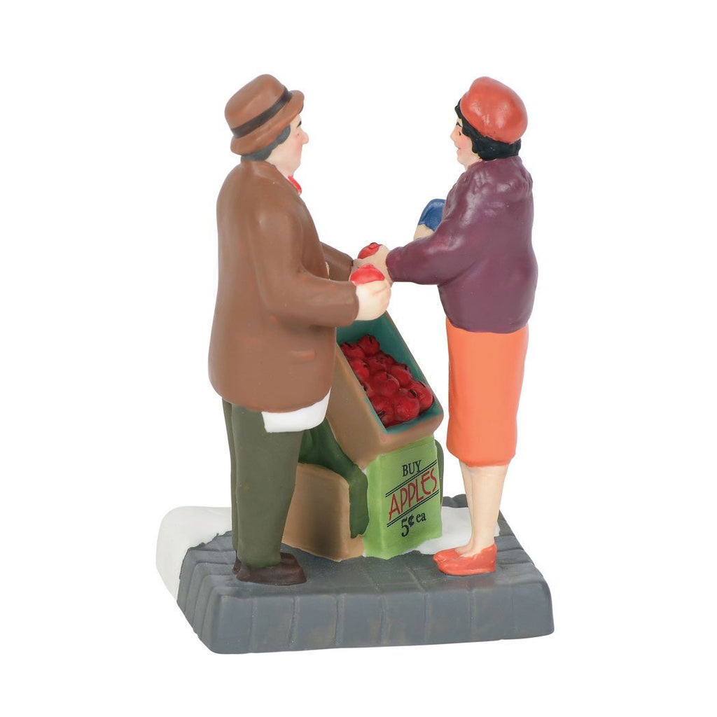 Department 56 Christmas City Apple Vendor