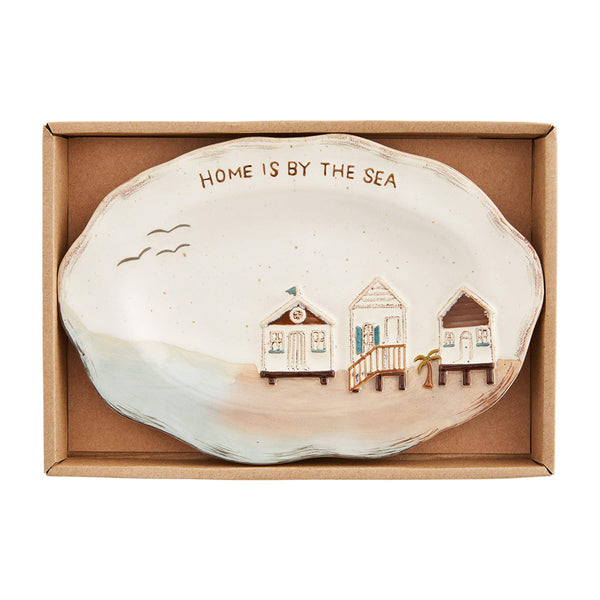 "Mud Pie Boxed Small Sea Plate, 5 1/2"" x 8 1/4"", House"