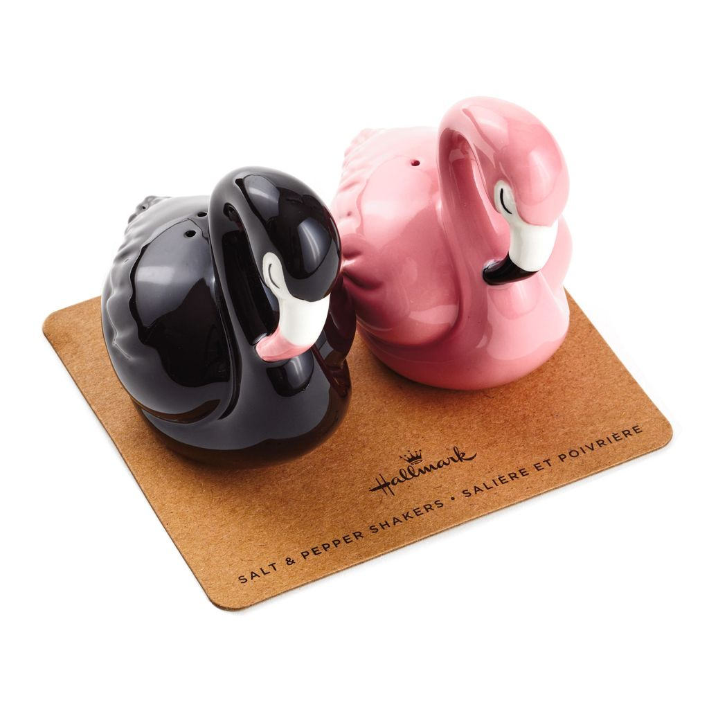 Hallmark Flamingo Ceramic Salt and Pepper Shakers, Set of 2