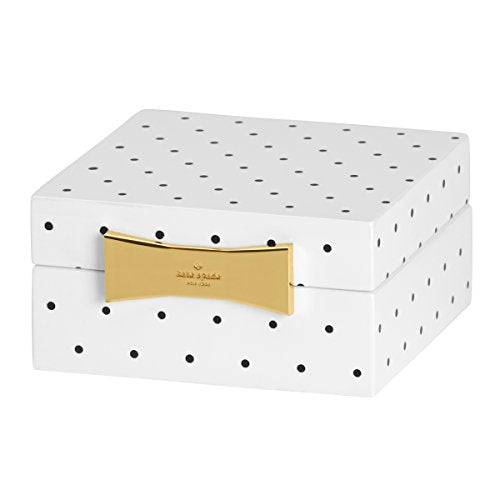 Lenox Kate Spade New York Garden Drive™ Square Jewelry Box in Black Dot