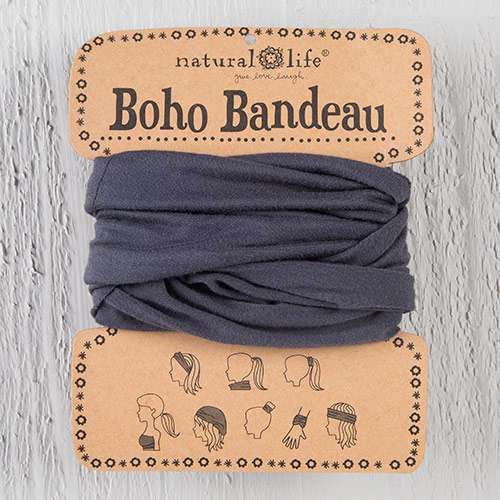 Natural Life Charcoal Boho Bandeau