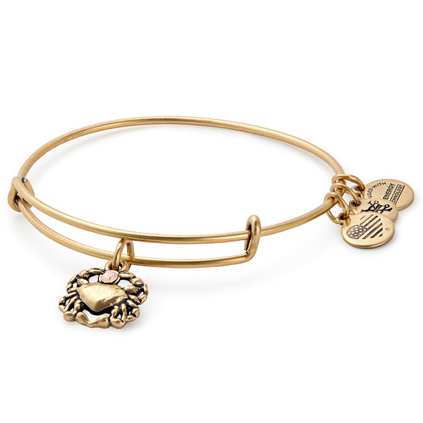 Alex and Ani Crab Charm Bangle, Gold
