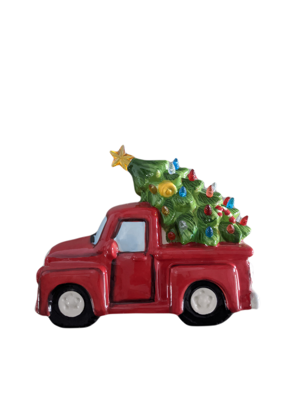 "Gerson 9.6"" Lighted Decorations - Red Pick Up Truck"