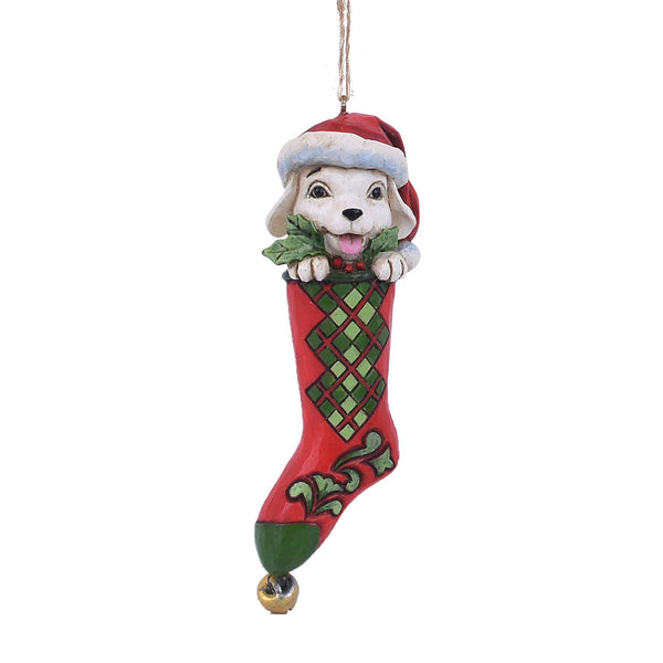 Enesco Country Living by Jim Shore Dog in Stocking Hanging Ornament